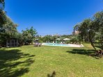 3,850 square meters fenced and fully organised plot around the villa