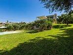 3,850 square meters fenced plot around the villa