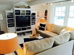 Fabulous Living Room with Pottery Barn Sectional and Large entertainment unit