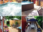 Enjoy the beautiful hot tub and deck atmosphere all year round. Feel free to use the BBQ