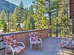 Enjoy serene nature views from the spacious deck.