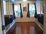 Blue Bunk room with 4 twin beds