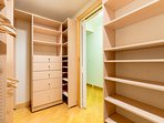 walking closet in master bedroom 2