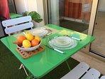 Le dîner ou déjeuner sur la terrasse