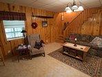 Basement living area.