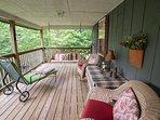 Main level porch.