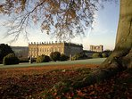 Chatsworth House in the autumn.