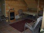 Gas fireplace/dining area