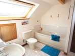 Large bathroom with bath and separate shower, a second shower room is the ground floor.