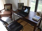 The writing desks in each room are perfect for writers & working professionals