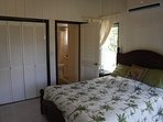 The master bedroom has an ensuite bath & beautiful natural light