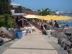 Walkway down to the restaurant and bar at Dorada beach. Well worth a visit.
