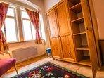 Spacious storage and beautiful wood finishings