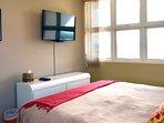 Second bedroom also has TV