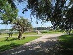 Bon Secour River and dock for Bon Secour Cottages