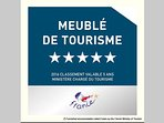 Furnished accommodation rated 5 stars (the maximum rate) by the French Ministry of Tourism