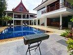 bbq swimming pool