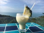 Afternoon pina coldas with a stunning view ...