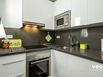 Kitchen. Main appliances include an oven, dishwasher and washing-machine.