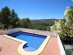 Beautiful pool, extensive terrace, superb views, 5 mins to beach, town & restuarants. Shops 2 mins.