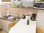 Fully equipped kitchen corner