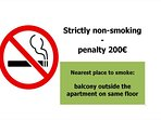 non-smoking apartment