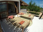 The sun lounger OceansideTerrace for the Inside Outside Suite