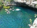 Cool off in one of the nearby cenotes