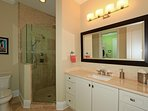 In suite bathroom with walk in shower