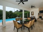 Outside dining area provides a fabulous lifestyle