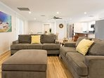 Iki - Living Room - Ceiling fans throughout the homes so you'll feel comfortable during your stay