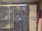 Bathroom 1. Walking shower.