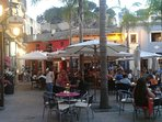 Scenic square just off the promenade in Denia