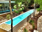 swim in the lap pool right in the heart of unspoiled natural beauty