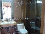 European standard bathroom in the Cinnamon bedroom