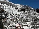 La casa, 500 metri dalle piste di sci e dagli impianti di risalita