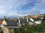Cullen Seatown. Rooftop view towards the Harbour.