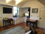 Converted coach house open plan living