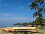 Outrigger canoe Haleiwa beach 5 minuets from the Zen Villa Haleiwa!