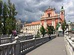Prešern square and Three Bridges (10 min away)