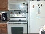 Refrigerator and Stove. Coffee and tea provided.