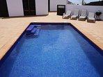Spacious private pool area