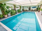 The indoor heated pool is great fun rain or shine.