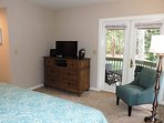 Master Suite with 32 inch TV, DVD Player, Stereo. Door to Balcony.