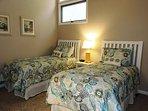Loft Bedroom - 2 Twin Beds - Ceiling Fan above.