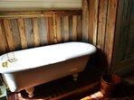 Clawfoot tub in bathroom of East Wing