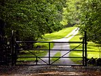 Gate and private drive to the LakeTrail House
