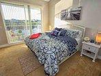 King Master Bedroom w/Flat Screen TV | Balcony Access