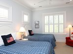 The First Floor Also Has This Terrific Guest Bedroom with 2 Full Size Beds