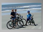 The beach at Kiawah, voted #1 in US, is where both my kids learned to ride a bike.